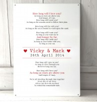 Personalised Wedding First Dance Lyrics Sign