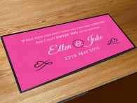 Personalised Wedding first dance song lyrics bar runner