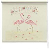 Flamingo Love printed blind