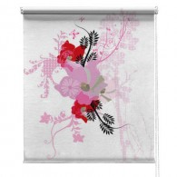 Flower printed blind
