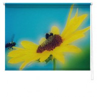 Flower printed blind