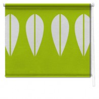 Green Retro Lotus printed roller blind