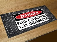 Danger Flux Capacitor bar runner mat