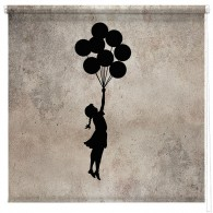 Banksy Flying balloon girl printed blind