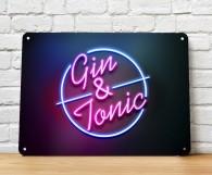 Gin & Tonic cocktail bar sign