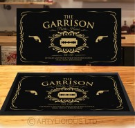 The Garrison Public House gold bar runner mat