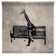 Banksy Giraffe printed blind