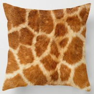 Giraffe skin print cushion