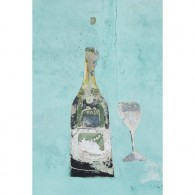 Graffiti champagne canvas art