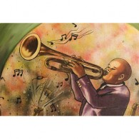 Graffiti jazz canvas art