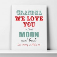 grandma love you to the moon and back