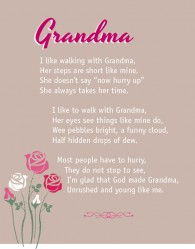 I love walking with Grandma canvas art or unframed print, great Mothers Day gift