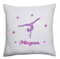Personalised Gymnast Sequin magic reveal childrens cushion