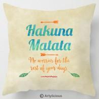 Hakuna Matata lion king quote cushion
