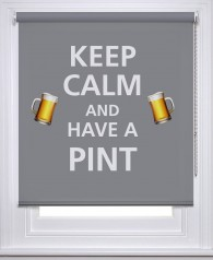 Keep Calm & have a Pint printed bar blind | Picture printed Blinds at Artylicious