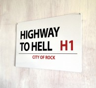 Highway to Hell street sign