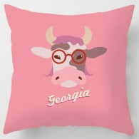 Personalised Pink cartoon cow