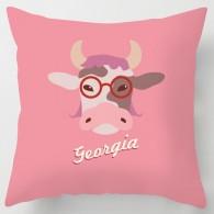 Personalised Pink cartoon cow