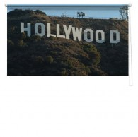 Hollywood sign printed blind
