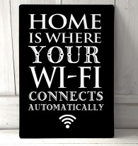 Home is where your WiFi connects metal Sign