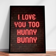 Personalised Neon Lights poster print or canvas