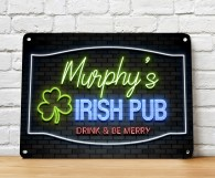 Personalised Irish Pub bar sign
