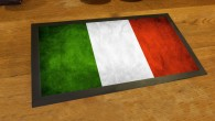 Italian flag grunge bar runner mat