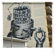 Junk Robot Graffiti printed blind