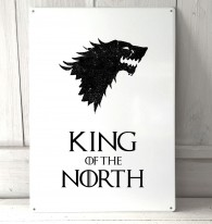 King of the North, game of thrones metal sign