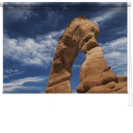 Rock formation printed blind