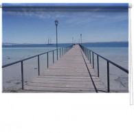 Seascape pier printed blind