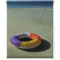 Beach photo printed blind