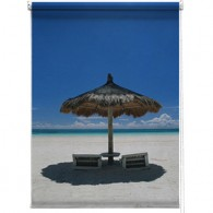 Beach parasol printed blind