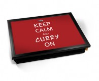 Keep calm & Curry on laptray