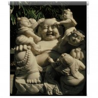Laughing Buddha printed blind