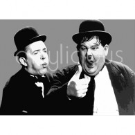 Laurel and hardy printed blind