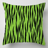 Green Tiger print cushion