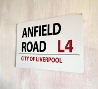 Anfield Road Liverpool Street Sign