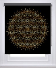 Mandala Black Gold printed blind