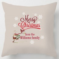 Merry Christmas personalised cushion