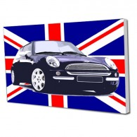 Union Jack Mini car canvas art
