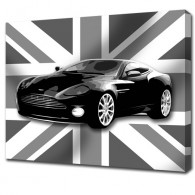 Union Jack aston martin canvas art