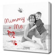 Your photo on canvas art picture, with caption, great mothers day gift