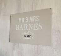 Personalised Mr & Mrs Established Sign