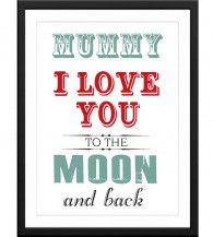 mummy I love you lots like jelly tots art print gift