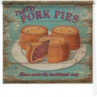 Pork Pies printed blind martin wiscombe