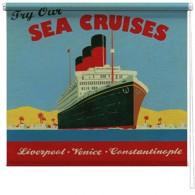 Sea Cruise ship printed blind martin wiscombe