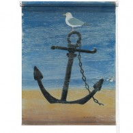 Anchor beach printed blind martin wiscombe