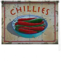 Chillies printed blind martin wiscombe