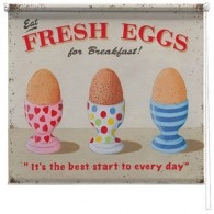 Fresh Eggs printed blind martin wiscombe